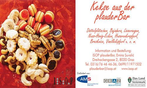 Vannillekipferl, Bajadera, Dattelplätzchen: Süßes aus der ISOP-plauderBar